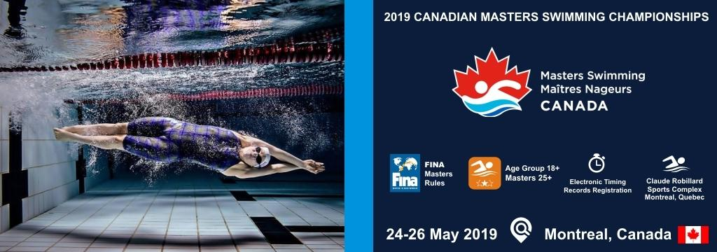 2019 Canadian Masters Swimming Championships, Masters Swimming Canada, Swim.by